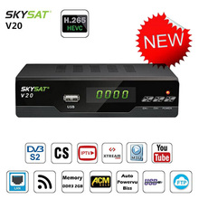 SKYSAT V20 DVB-S2 Satellite Receiver H.265 HEVC TV Tuner LAN Support Cline Newcamd Mgcam IPTV M3u Youtube Autoroll Powervu Biss