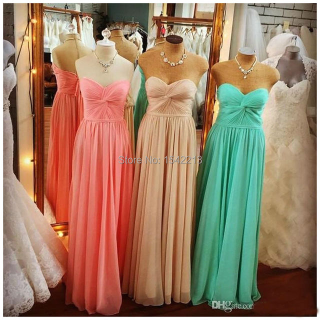 b281748b4d US $109.0 |Mint Green Coral Bridesmaid Dress Simple Style Cheap Formal  Women Wedding Party Gowns Vestido De Festa 2017-in Bridesmaid Dresses from  ...