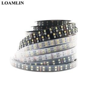 Image 2 - 5050 Double Row RGB LED Strip Waterproof 120LEDs/m 5M  Black White PCB RGBW RGBWW LED Light  DC 12V 24V IP30/IP67
