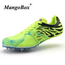 ba6e9c33c0d Casal Trilha Pico Sapatos Confortáveis Sapatos de Pregos Tênis de Atletismo  Tamanho Grande 35-45