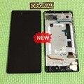 100% garantía de lcd de pantalla táctil digitalizador asamblea con marco para lenovo vibe shot max z90 z90a40 z90-3 z90-7 reemplazo