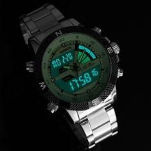 2017 Top Luxury Brand WEIDE Men Fashion Sports Watches Men's Quartz LED Clock Man Army Military Wrist Watch Relogio Masculino