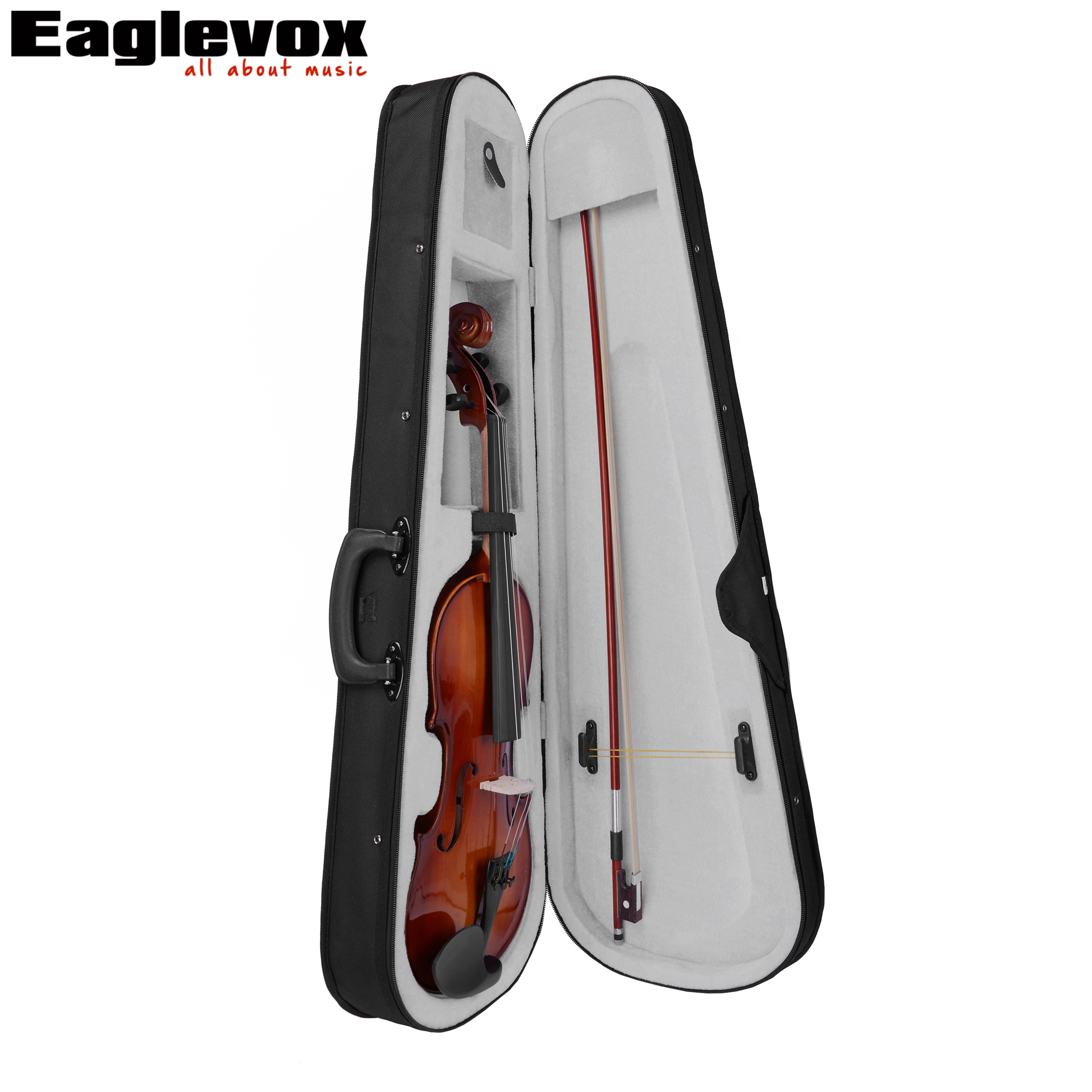 1/4 Violin with Lightweight  Hard Case Maple Back and Sides Pinus Bungeana Top handmade new solid maple wood brown acoustic violin violino 4 4 electric violin case bow included