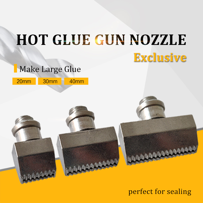 Wide Diameter Hot Glue Gun Nozzle 20mm 30mm 40mm Make Large Glue Aluminium Nozzles for Power Tools Include Spanner, 1pcs/lot