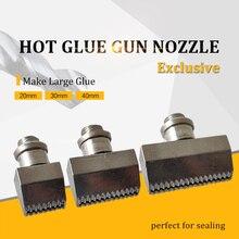 Wide Diameter Hot Glue Gun Nozzle 20mm 30mm 40mm Make Large Aluminium Nozzles for Power Tools Include Spanner, 1pcs/lot