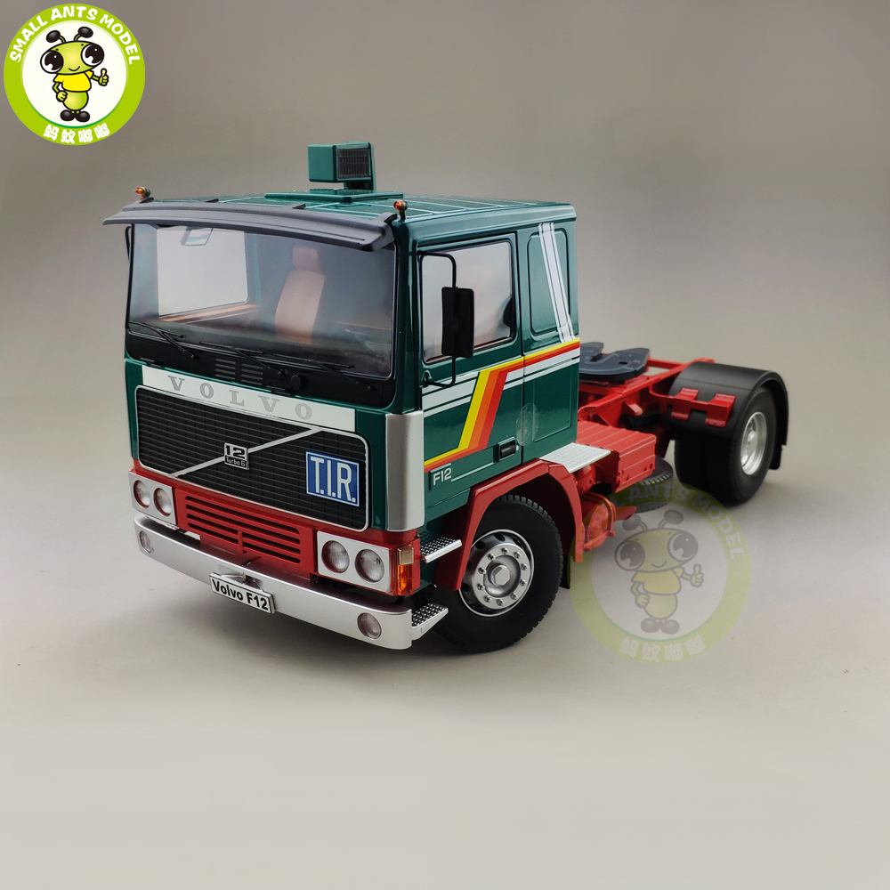 1/18 ROAD KINGS KK Volvo F1220 Tractor Truck 1977 Diecast Car Truck Model Toys for kids Gift Green and Red