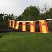 9 м длинный флаг Испании Вымпел Spainish String баннер Великобритании банты фестиваль вечерние украшения праздника
