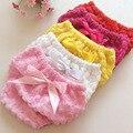 6 colores Infant Toddler Girls Cubierta Diper Volantes Bragas de los Bebés Para bebe Precioso Bebé Recién Nacido Pantalones Cortos Bragas Pant Bloomers