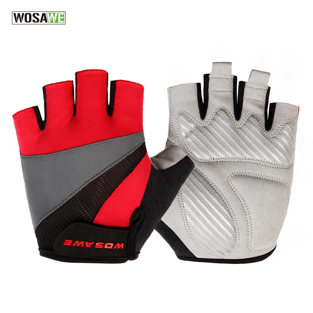 WOSAWE New Cycling Gloves Ciclismo Half Finger Gloves Gel Luva Shockproof Sports Motorcycle MTB Road Bike Gloves