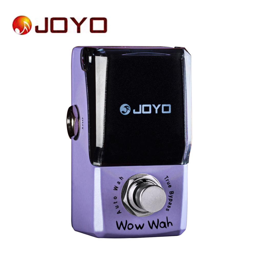 JOYO IRONMAN JF-322 Wow Wah Auto Wah Mini Electric Guitar Effect Pedal Box Guitar Parts with Knob Guard True Bypass joyo ironman orange juice amp simulator electric guitar effect pedal true bypass jf 310 with free 3m cable