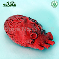 Halloween Horrible Heart Shaped Silicone Mousse Cake Moulds,DIY Chocolate Candy Fondant Cake Molds,Resin Clay Crafts Molds