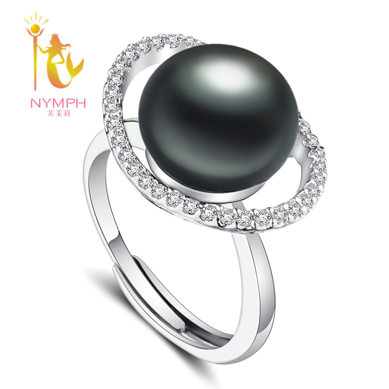 [NYMPH]Black Pearl Ring Real Freshwater