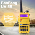 Горячий Портативный Радио Baofeng УФ-5R Желтый двухстороннее радио 5 Вт укв dual band 136-174 400-520 МГЦ Ручной Talkie Walkie