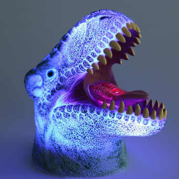 Creative Glow Colorful 3D Big Mouth Dinosaur Atmosphere Children\'s Night Lights Bar Decor Lamp Xmas New Year Children Toy Light - Category 🛒 Lights & Lighting