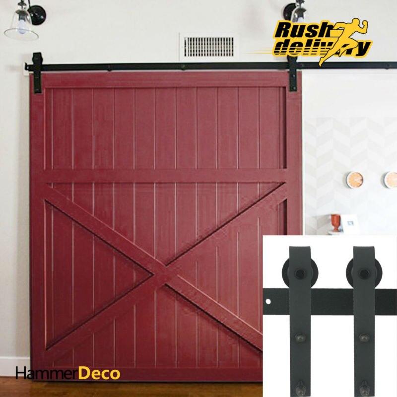 1500 2500mm Heavy Duty Vintage Wooden Sliding Interior Barn Door Hardware  Fittings American Rustic Sliding Barn Door Kits