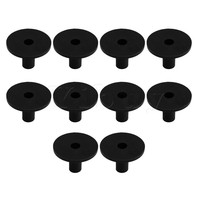 Yibuy 4 2x3 8cm Black Plastic Long Cymbal Sleeves With Flange Base For Drum Set Pack