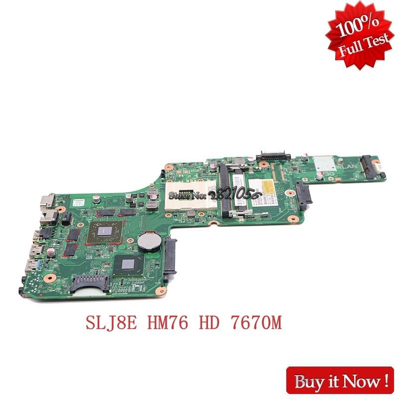 Nokotion For Toshiba C850 L850 laptop motherboard DK10FG 6050A2491301 MB V000275020 HD 7610M 1GB Full Tested