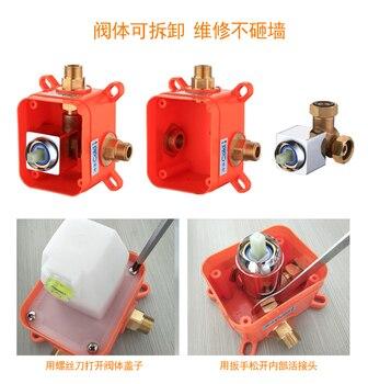 Grifo del baño caliente y frío oculta ducha grifo mezclador grifo grifos en montado en la pared de latón Válvula de cromo un solo función ducha grifo