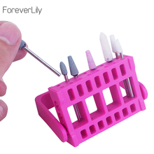 hot deal buy portable nail drill bit holder nail drill head stand displayer 16 holes organizer storage nail drill container manicure