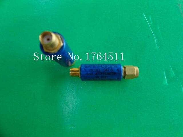 [BELLA] MINI SAT-5 DC-1.5GHz Att:5dB P:2W SMA Coaxial Fixed Attenuator  --5PCS/LOT