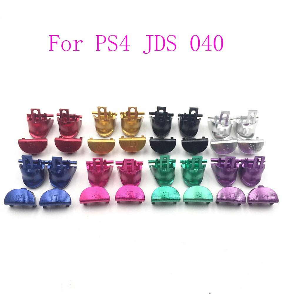 Metal Aluminum L1 R1 L2 R2 Button Set For PS4 Slim Pro Controller JDS JDM-040 Trigger Buttons
