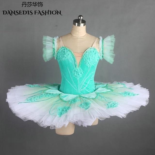 69e30da42 Green Professional Classic Pancake Ballet Tutu for Gril Ballerina ...