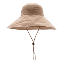 Women Fashion Beach Hat Concise Casual Solid Color Wide Brim UV Protection Folding Bucket