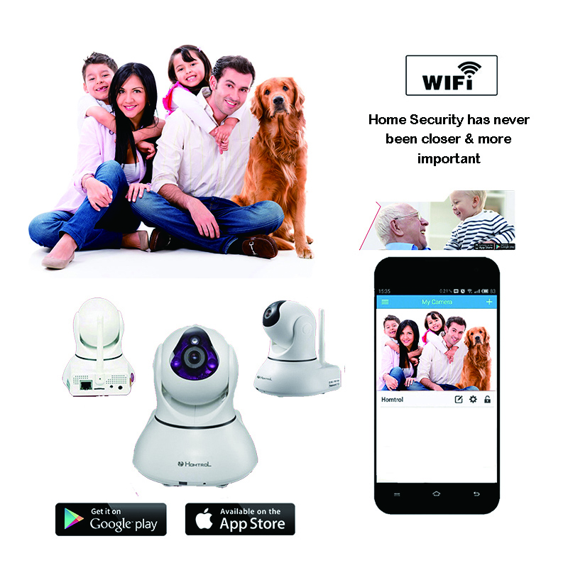 Фотография Smart Home and Commercial Wifi IP Camera with Motion Sensitivity Adjustment and Sound Detection Alarm IP Monitor Camera