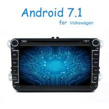 2 Din Android 7.1 Car Audio Lettore DVD GPS Radio Per VW GOLF 6 Polo Bora JETTA PASSAT B6 Tiguan SKODA OCTAVIA 3G OBD