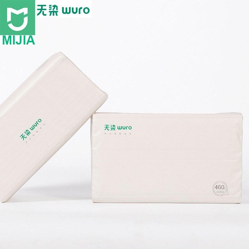 Neue Xiaomi Mijia Wuro Antibakterielle Tissu Papier Holz Material Papier Serviette Wc Papier Für Kinder Familie 460/390 Blätter