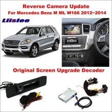 Liislee For Mercedes Benz M ML W166 2012~2014 Original Screen Update / Reversing Track Image + Reverse Camera Digital Decoder