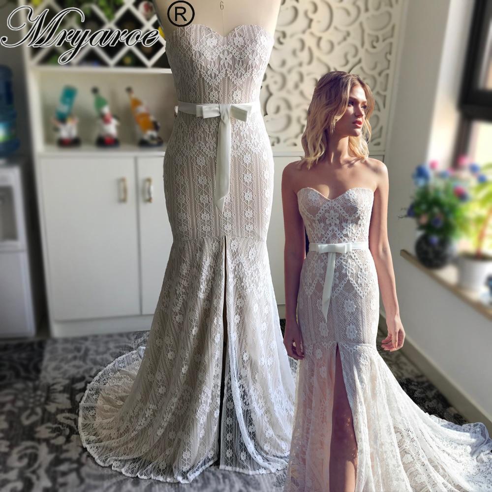 Mryarce Chic Style Delicate Lace Mermaid Wedding Dress
