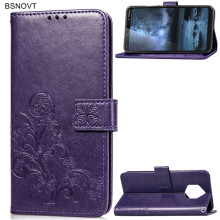 For Nokia 9 Pure View Case Leather Silicone Wallet Anti-knock Phone Bag Cover