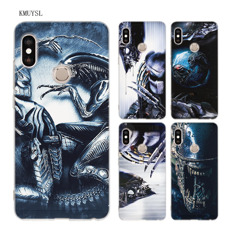 KMUYSL Alien vs Predator TPU Clear Soft Case Cover Shell for Xiaomi Redmi Note 5 Plus 5A 5X A1