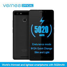 Vernee Thor E 5″ HD 4G LTE Mobile Phone MTK6753 Octa-Core Android 7.0 Cell Phones 3G RAM 16G ROM 5020 mAh Fingerprint Smartphone