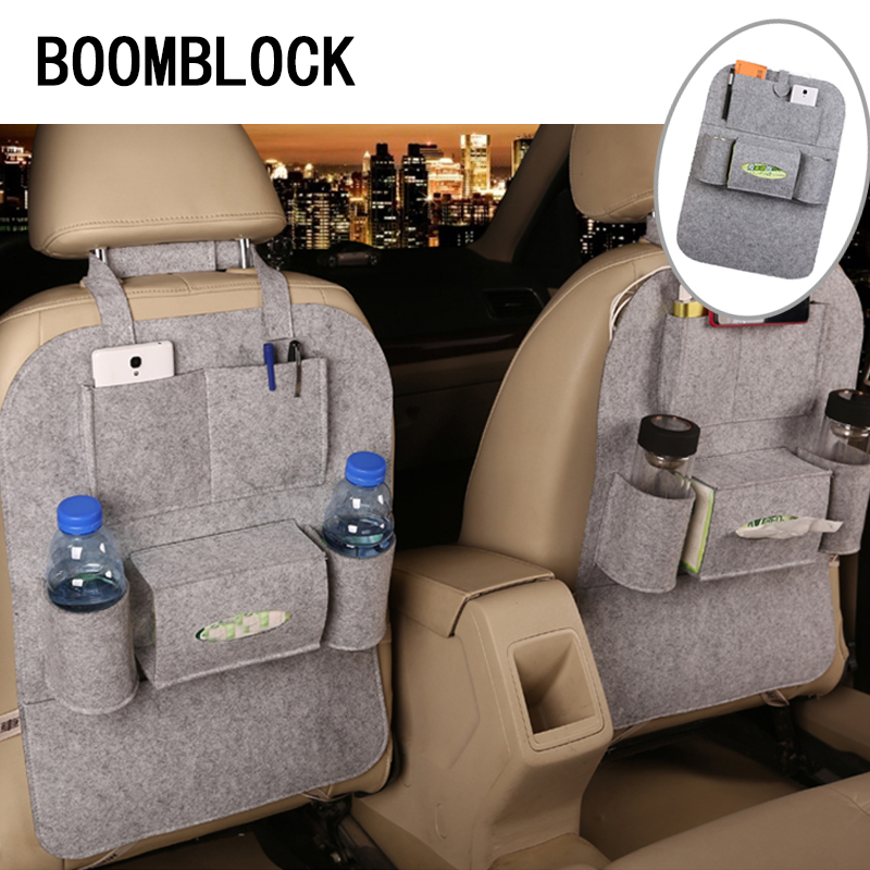 1 unids car styling asiento trasero bolsa de almacenamiento para Peugeot 307 206 308 407 207 508 208 406 2008 LADA vesta Granta priora Kalina
