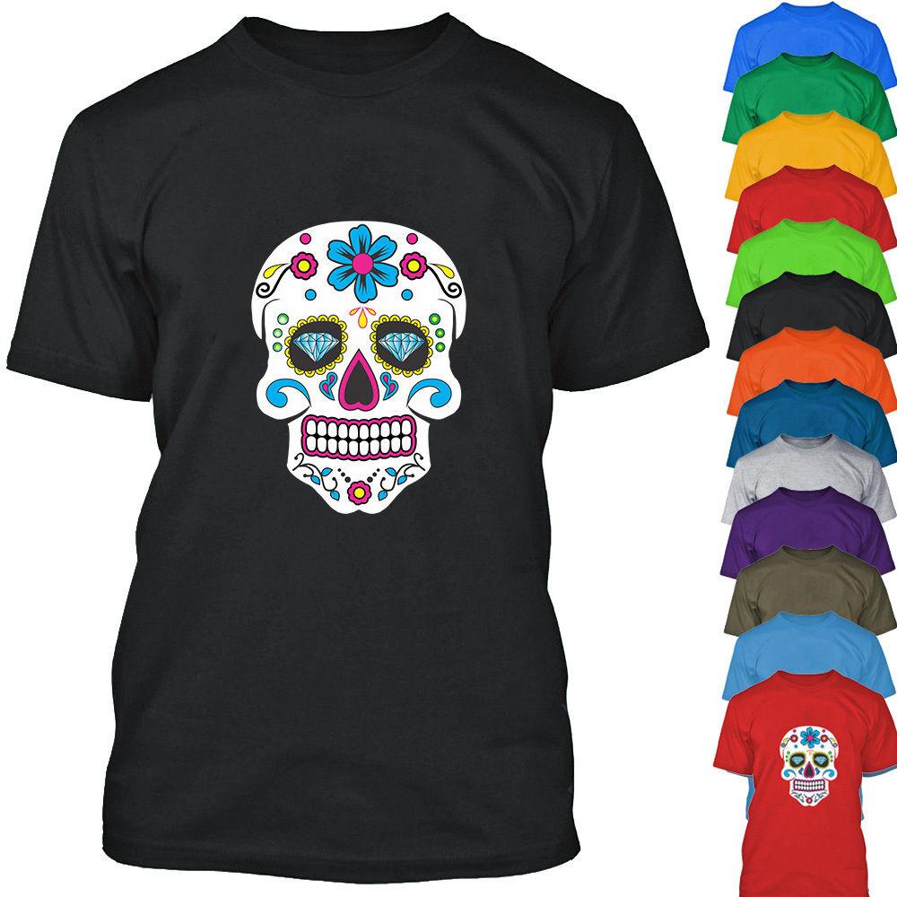 XXL Sugar Skull Gift Men T shirt 0025 New Colour Fashion S