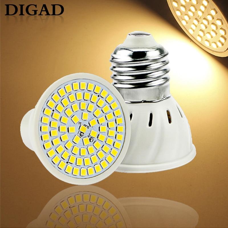 220V GU10 LED Spotlight MR16 Lamp GU5.3 Spot Light Bulb E27 48 60 80leds Lampara B22 Bombillas Led E14 Gu 10 2835 Light 5W 7W 9W