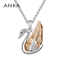 Free Shipping Wholesale Women S Fashion Jewelry The Gift Crystal Pendant Swan Necklace 90346