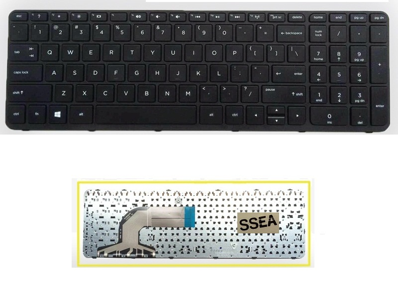 SSEA Wholesale New laptop US Keyboard for HP 250 G2 G3 255 G2 G3 256 G2 G3 Keyboard with frame
