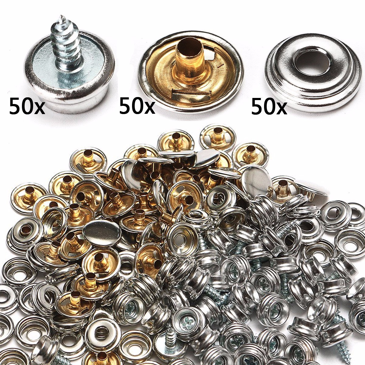 Automobiles & Motorcycles Hearty 15mm Snap Fastener Button Screw Studs Kit For Boat Cover Home Improvement Tent