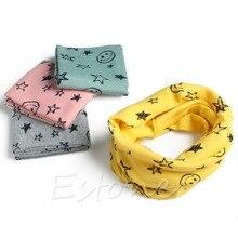 Новинка осень зима мальчики девочки теплые воротник шарф хлопок уплотнительное кольцо кольцо шея накидка шарфы