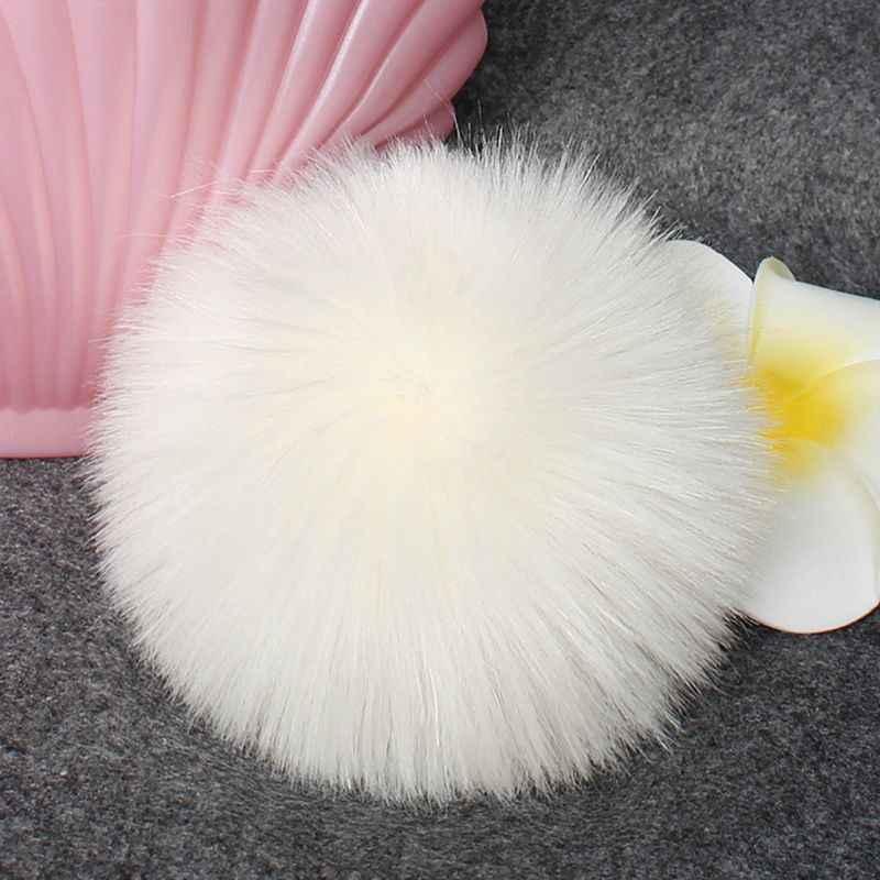 16 colori 8/10cm FAI DA TE Faux Artificiale Pelliccia di Visone Soffice Pompon Palla di Colore Solido Per Il Cappello di Lavoro A Maglia Scarpe sciarpe Borsa Borsa Strumento