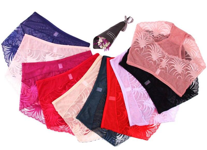 014e7cf8c UIECOE Women underwear briefs sexy women s Panties full transparent lace  seamless string Super plus size women panty 2XL 4XL-in women s panties from  ...