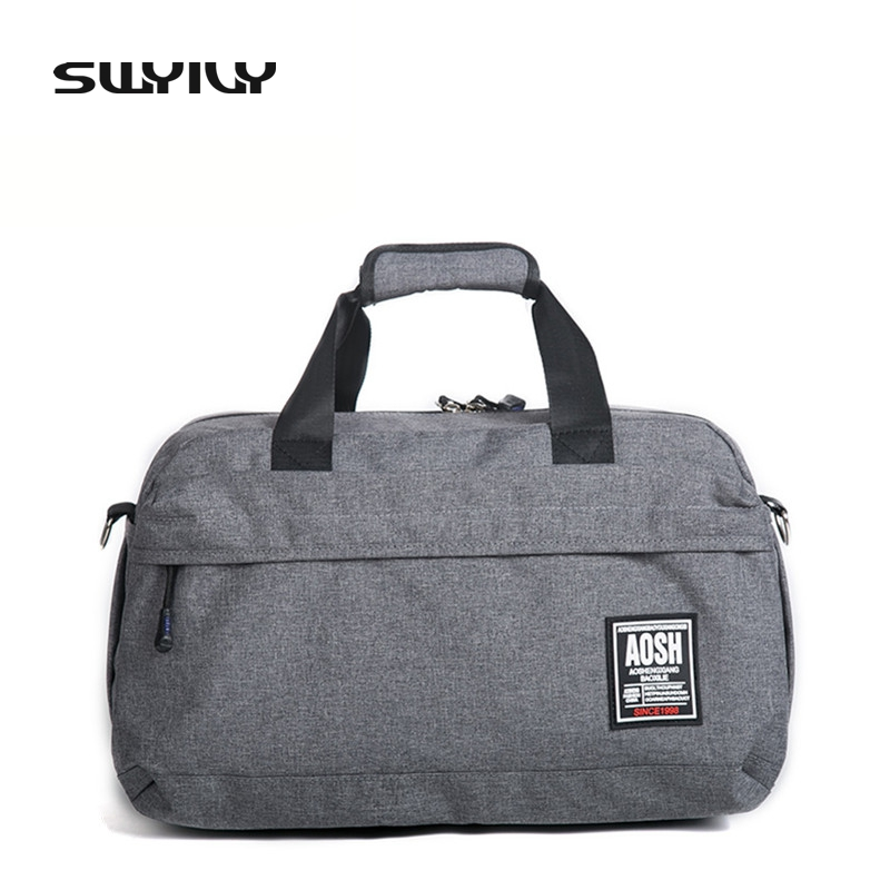SWYIVY Flax Cotton Small Size Gym Bag For Men And Women Fitness Training Sports Handbag Solid Color Traveling Shoulder In Bags From