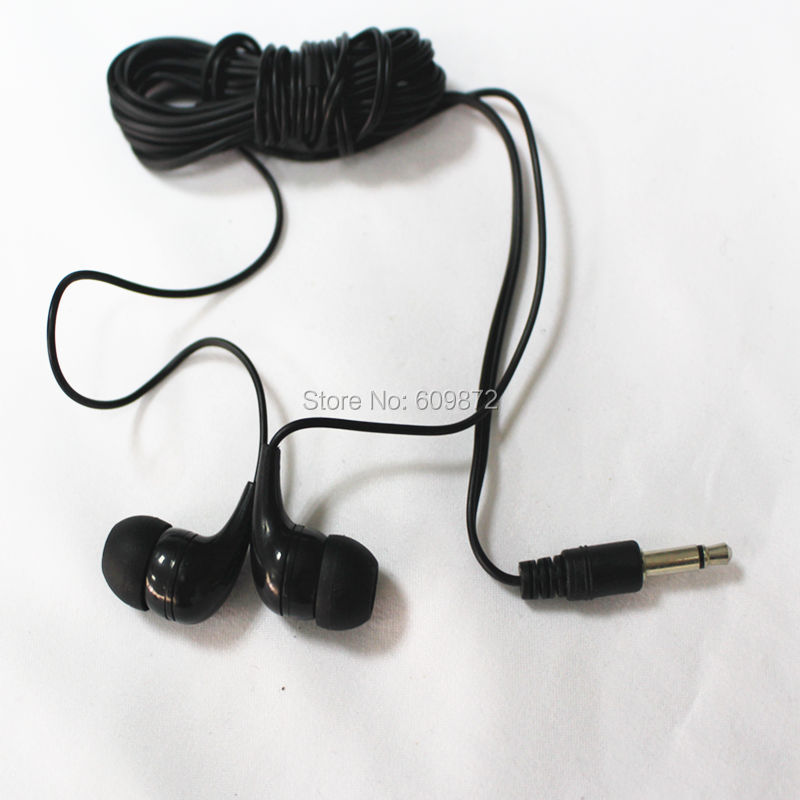 Linhuipad MONO In-ear Earphones Cheap Earbud For Libraries, hospital 100pcs/lot image
