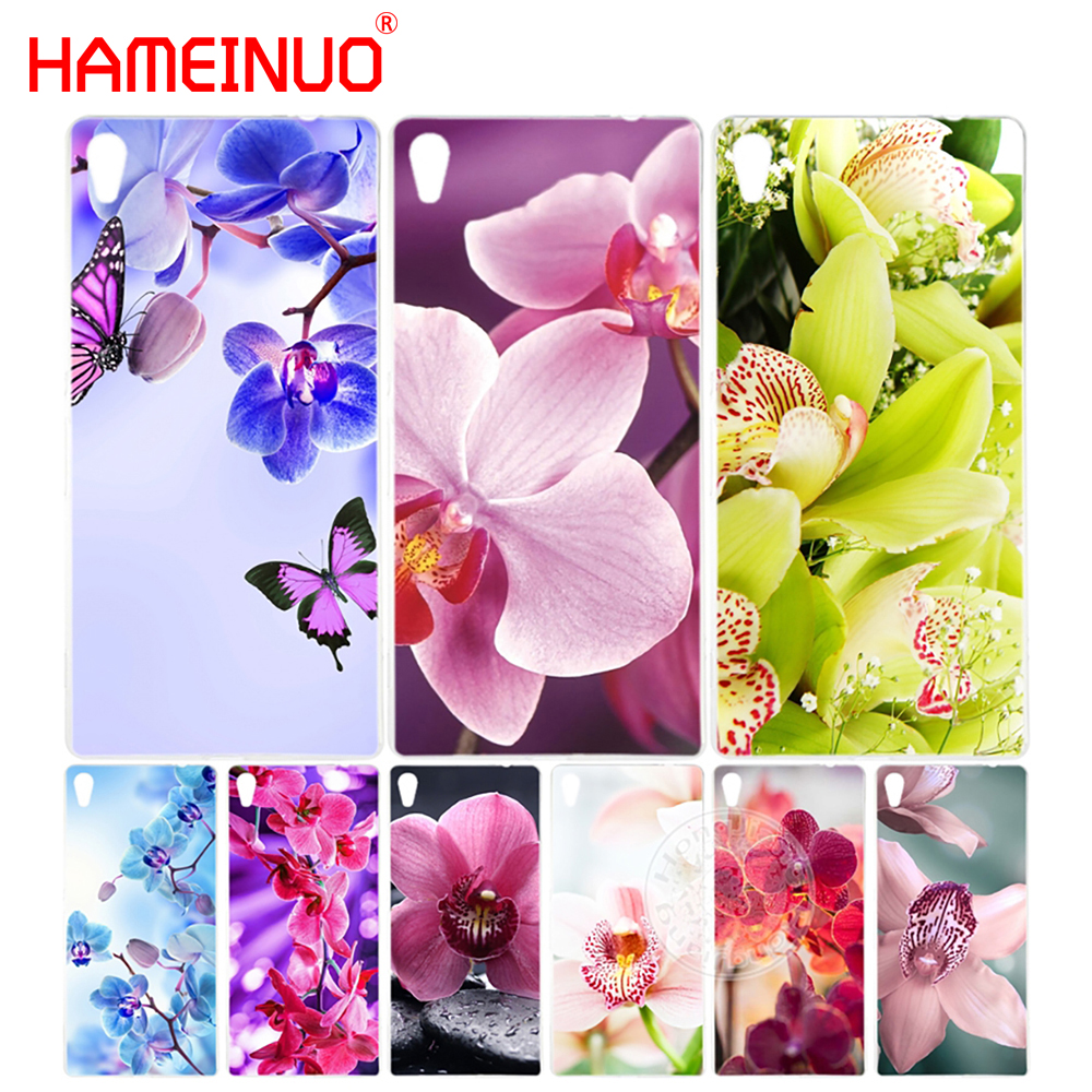 HAMEINUO Desktop wallpapers free orchids Cover phone Case for sony xperia C6 XA1 XA ULTRA X XP L1 X compact XR/XZ/XZS PREMIUM