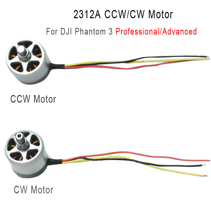 Original 2312A CCW/CW Brushless Motor 800KV For DJI Phantom 3 Pro & Advanced Drone