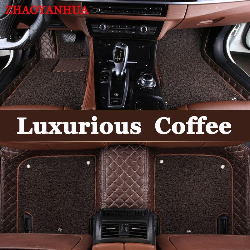 ZHAOYANHUA Custom fit car floor mats liners for Mercedes Benz X164 X166 GL GLS class GL350 GL400 GL450 GL500 GL550 car styling