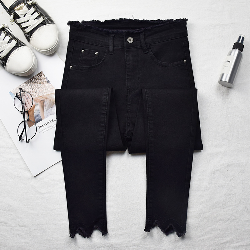 Women Jeans High Elastic Stretch Jeans Female Washed Denim Skinny Female Ankle Pencil Pants Stretch Streetwear Trousers